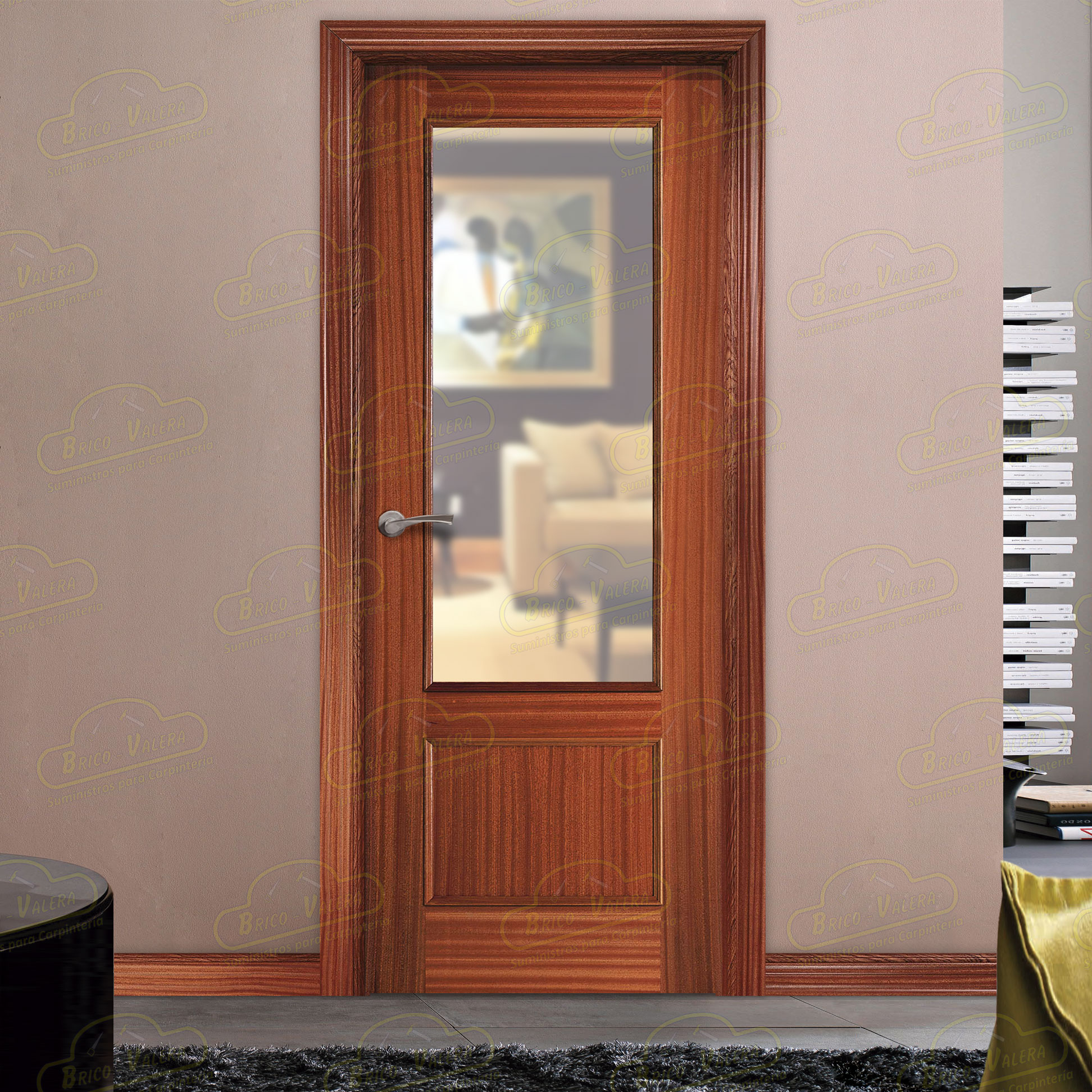 Puerta Block Interior 120-ZV1-Sapelly