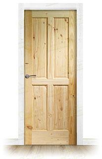 Puerta Block de Madera Rústica PM-1108